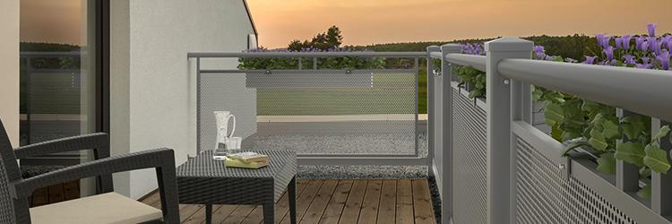 tegye egyedivé erkélyét egy hangulatos teraszkorlát segítségével